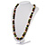 Wood Bead Necklace (White, Brown, Green & Black) - 74cm Length - view 7