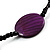 Glass & Shell Bead Tassel Necklace (Purple & Black) - view 5