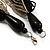 Chunky Multi-Strand Glass Bead Wood Necklace (Black & Antique White) - view 5