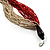 Chunky Multi-Strand Glass Bead Wood Necklace (Bright Red & Transparent/ White) - 58cm L - view 4