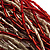 Chunky Multi-Strand Glass Bead Wood Necklace (Bright Red & Transparent/ White) - 58cm L - view 5