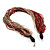 Chunky Multi-Strand Glass Bead Wood Necklace (Bright Red & Transparent/ White) - 58cm L - view 8