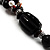3 Strand Black, White & Magenta Shell & Bead Necklace - view 9