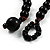 3 Strand Black, White & Magenta Shell & Bead Necklace - view 10