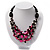 3 Strand Black, White & Magenta Shell & Bead Necklace - view 8