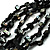 Multistrand Glass And Shell - Composite Necklace (Slate Black) - view 3