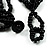 Multistrand Glass And Shell - Composite Necklace (Slate Black) - view 6