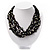 Multistrand Glass And Shell - Composite Necklace (Slate Black) - view 9