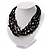 Multistrand Glass And Shell - Composite Necklace (Slate Black) - view 2