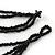 3 Strand Orange & Black Shell - Composite Bead Necklace - 40cm Length - view 5