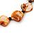 3 Strand Orange & Black Shell - Composite Bead Necklace - 40cm Length - view 3