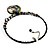 Jet Black Glass, Shell & Mother of Pearl Medallion Choker Necklace (Silver Tone) - view 4