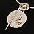 Weight of Symmetry - Hammered Stainless Steel Necklace - view 4