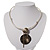 Weight of Symmetry - Hammered Stainless Steel Necklace - view 3