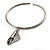 Hammered Stainless Steel Lucky Sail Choker Necklace - view 5