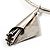 Hammered Stainless Steel Lucky Sail Choker Necklace - view 3