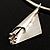 Hammered Stainless Steel Lucky Sail Choker Necklace - view 11