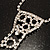 Star Quality Geometrical Tie Necklace (Clear) - view 5