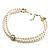 2 Strand Imitation Pearl Wedding Choker Necklace (Snow White, Silver Tone) - view 5