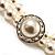 2 Strand Imitation Pearl Wedding Choker Necklace (Snow White, Silver Tone) - view 6