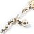 2 Strand Imitation Pearl Wedding Choker Necklace (Snow White, Silver Tone) - view 8
