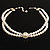 2 Strand Imitation Pearl Wedding Choker Necklace (Snow White, Silver Tone) - view 9