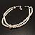 2 Strand Imitation Pearl Wedding Choker Necklace (Snow White, Silver Tone) - view 10