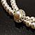 2 Strand Imitation Pearl Wedding Choker Necklace (Snow White, Silver Tone) - view 11