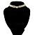 2 Strand Imitation Pearl Wedding Choker Necklace (Snow White, Silver Tone) - view 12