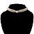 2 Strand Imitation Pearl Wedding Choker Necklace (Snow White, Silver Tone) - view 4