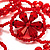 Stunning Hot Red Wide Beaded Choker (Silver Tone Metal) - view 4