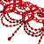 Stunning Hot Red Wide Beaded Choker (Silver Tone Metal) - view 6