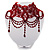 Stunning Hot Red Wide Beaded Choker (Silver Tone Metal) - view 12