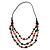 3 Strand Multicoloured Bead Leather Cord Necklace - 80cm - view 7