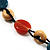 3 Strand Multicoloured Bead Leather Cord Necklace - 80cm - view 9