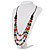 3 Strand Multicoloured Bead Leather Cord Necklace - 80cm - view 10