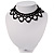 Black Acrylic Bead Flex Frill Choker - view 6