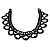 Black Acrylic Bead Flex Frill Choker - view 7