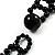 Black Acrylic Bead Flex Frill Choker - view 8