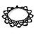 Black Acrylic Bead Flex Frill Choker - view 2