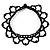 Black Acrylic Bead Flex Frill Choker - view 9