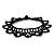 Black Acrylic Bead Flex Frill Choker - view 10