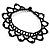 Black Acrylic Bead Flex Frill Choker - view 4