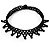 Black Acrylic Bead Flex Fancy Dress Party Choker - view 2