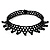 Black Acrylic Bead Flex Fancy Dress Party Choker - view 10