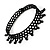 Black Acrylic Bead Flex Fancy Dress Party Choker - view 11