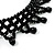 Black Acrylic Bead Flex Fancy Dress Party Choker - view 14