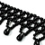 Black Acrylic Bead Flex Fancy Dress Party Choker - view 6