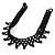 Black Acrylic Bead Flex Fancy Dress Party Choker - view 5