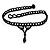 Black Acrylic Bead Flex Gothic Choker - view 7